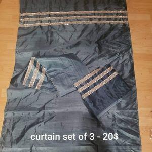 Set of 3 pannels (curtains)
